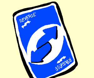 Uno cards reverse