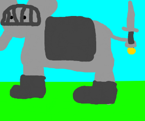 Armored RPG elephant