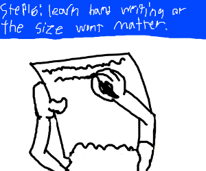 Step15: Write larger cause its barely readable