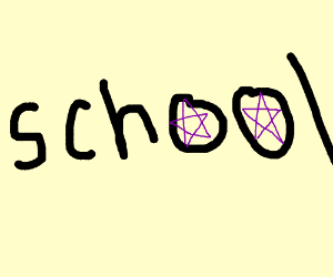 pentagrams in school