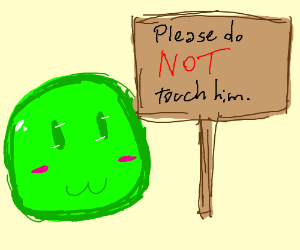 Please do not touch adorable slime.