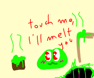 Don't touch the cute slime.