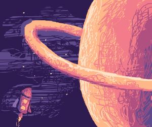 Rocket travelling to Saturn