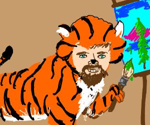Bob Ross is a tiger