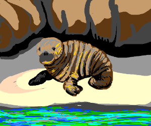 cute brown walrus
