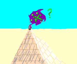 Spiritomb on top of a pyramid confused