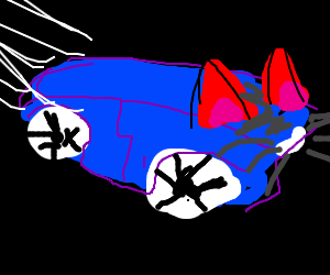 Cat-Eared Car Reaching Ludicrous Speeds