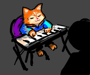 Watching Keyboard Cat