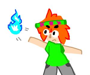 Hippie launching a spirit bomb