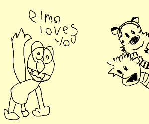 Calvin has a cameo on Sesame Street