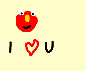 elmo loves you also theres a tiger with a kid