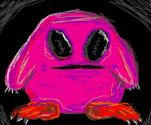 Monstorous, hyper-realistic Kirby