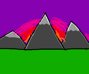 mountains in front of sunset