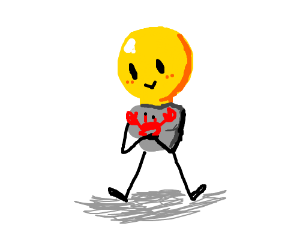 Lightbulb holding a crab