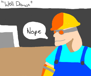 A well-drawn Engineer from TF2