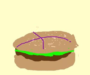 Burger has the purple nervous animelinesonhead