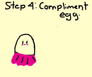 Step 3: Dress up the eggs