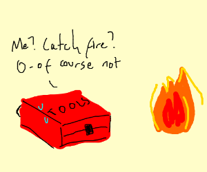 Toolbox lies to fire about catching