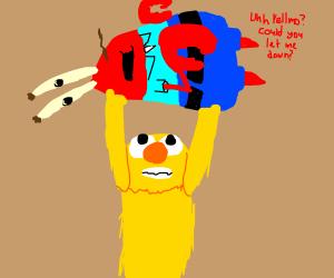 yellmo picking up Mr. Krabs