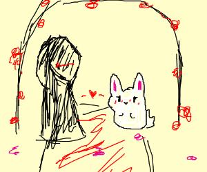 grim reaper x easter bunny wedding