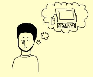 man missses his computer