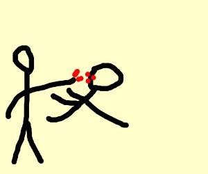 someone hurting someone