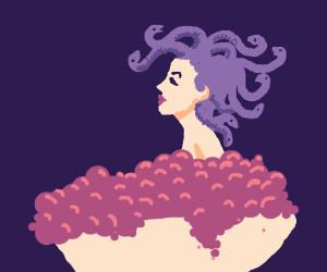 Medusa takes a bubble bath
