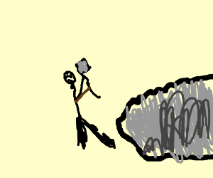 Trying to mine rock with a lumber axe