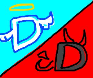 drawception, angel vs devil
