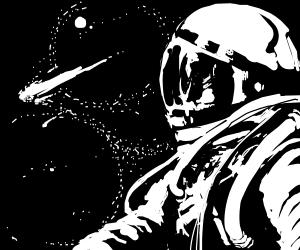 astronaut sees meteor