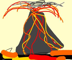Vulcanic eruption