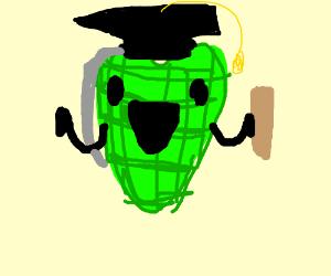 Heart - shaped grenade graduates.
