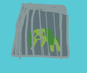 Pupy in underwater jail