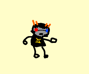 Some homestuck dood. (Karkat??)