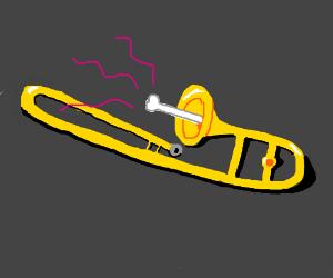 trombone with an actual bone in it