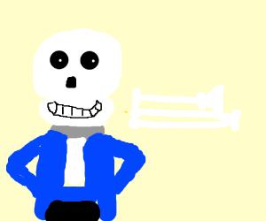 sans with a literal trom - bone