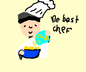 chef prepares a bowl of chips