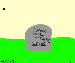 The tomb of a dead meme