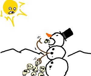 Snowman skull-eater
