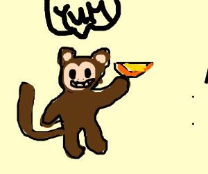 pink monkey likes orange