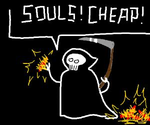 grim reaper selling souls