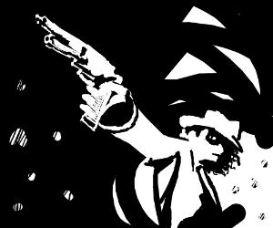 Michael Jackson got a gun, he is bad now.