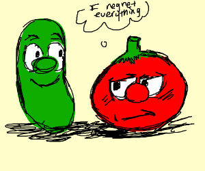 Bob the tomato questioning life decisions