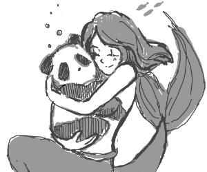 Mermaid loves Panda