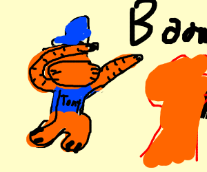 Tony the tiger does a dab that blows stuff up.