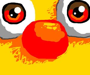super close up of yellmos face