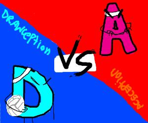 drawception vs Aception in vollyball