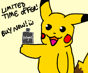 Pikachu Promoting Cologne