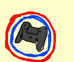 MLG Logo (Blue and red with with controller)