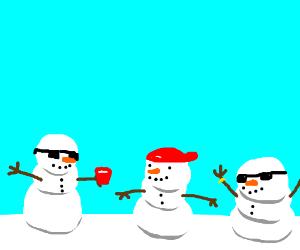 chill snowmen